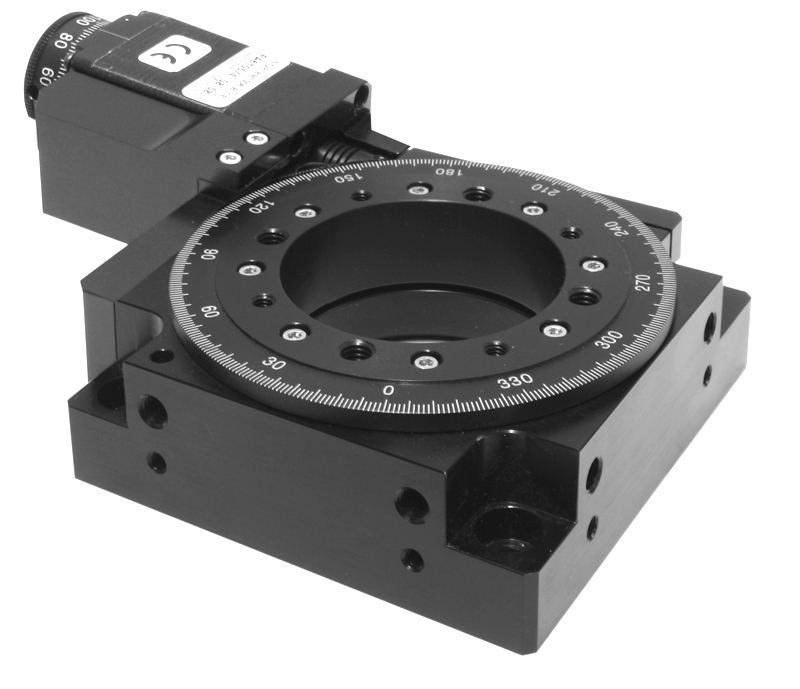 Rotary table low profile large aperture direct drive for Low profile stepper motor