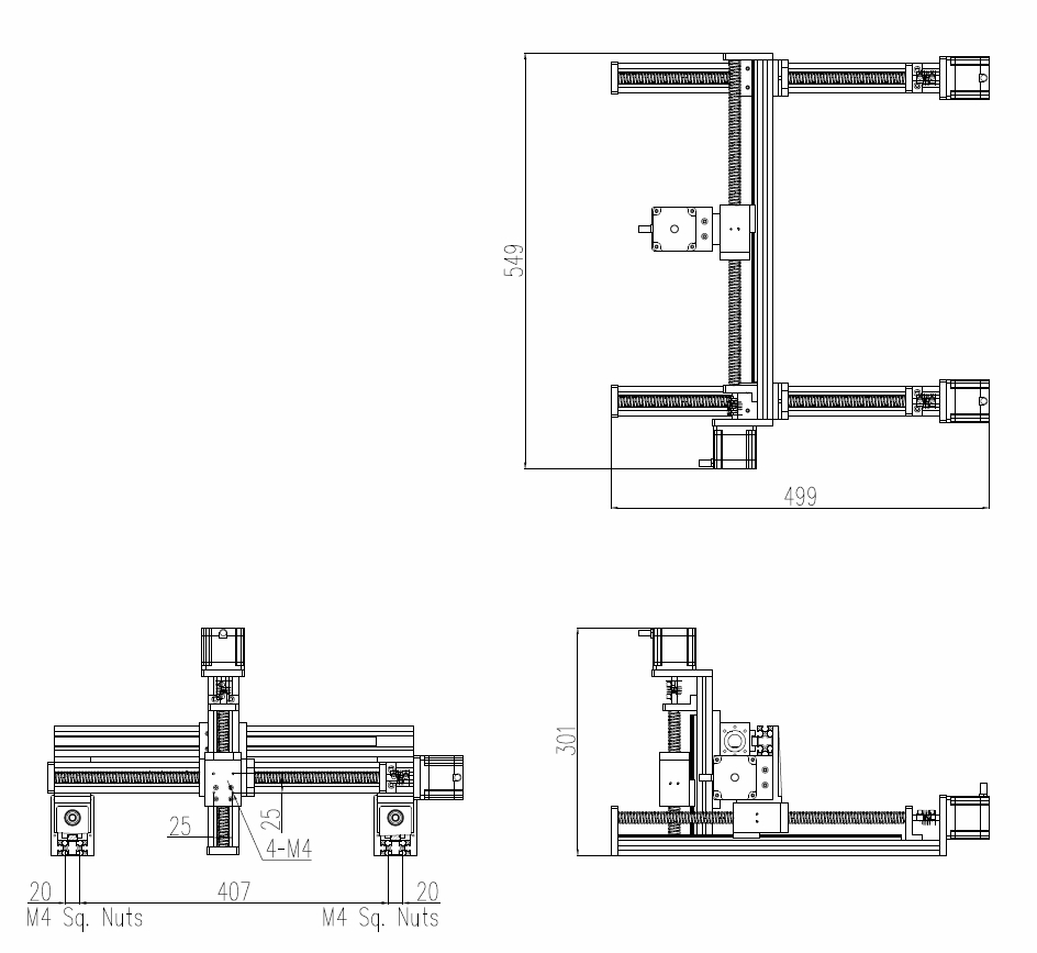 XYZ GANTRY BSMAE-F40L-300x300x100