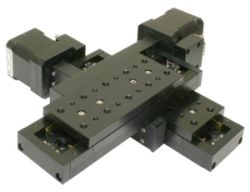 XY table with stepper motors